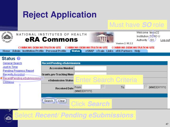 Reject Application