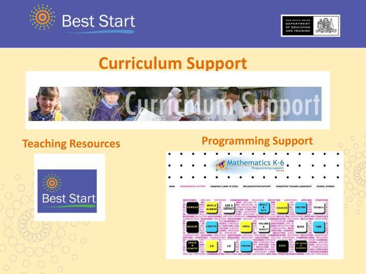 Curriculum Support