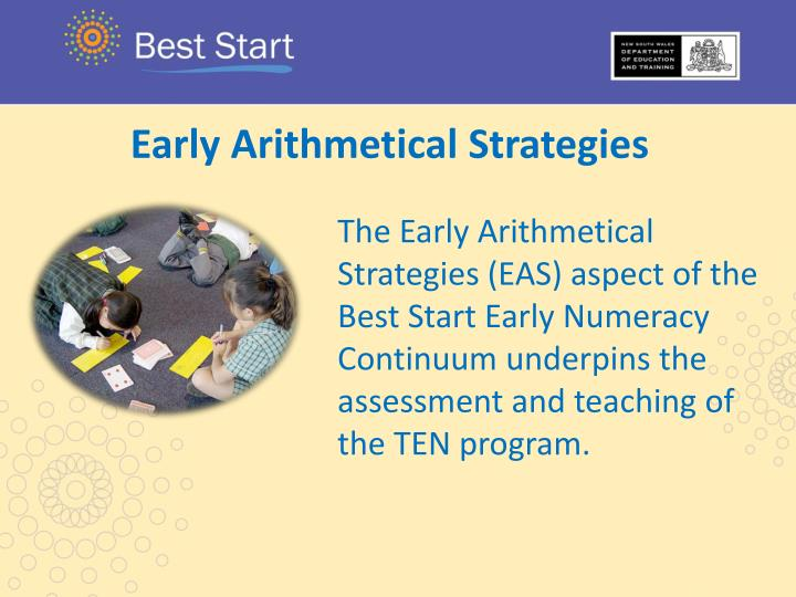 Early Arithmetical Strategies