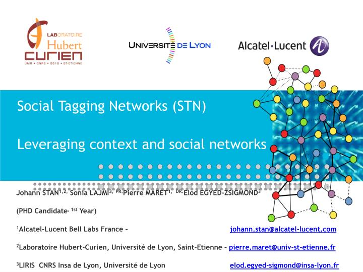 Social tagging networks stn leveraging context and social networks