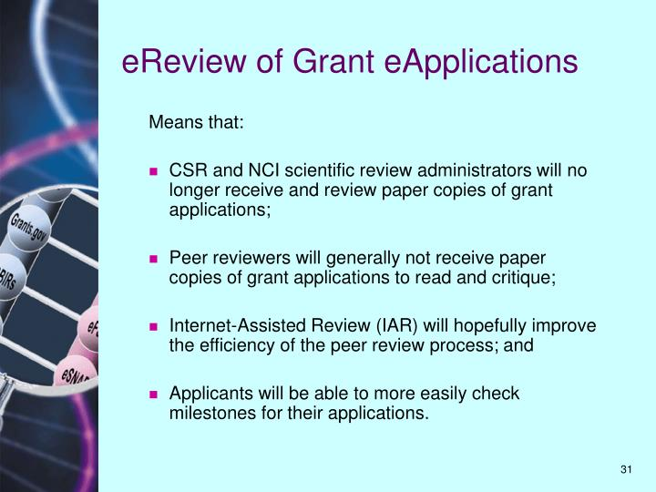 eReview of Grant eApplications