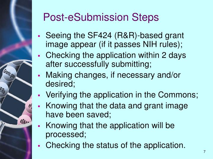 Post-eSubmission Steps