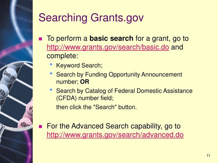 Searching Grants.gov