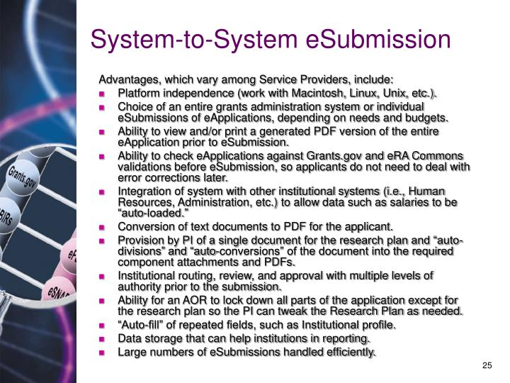 System-to-System eSubmission