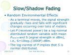 slow shadow fading