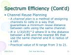 spectrum efficiency cont d1
