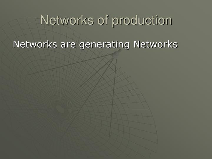 Networks of production