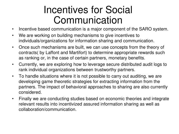 Incentives for Social Communication
