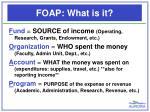 foap what is it