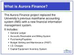 what is aurora finance
