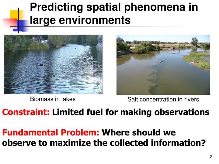 Predicting spatial phenomena in large environments