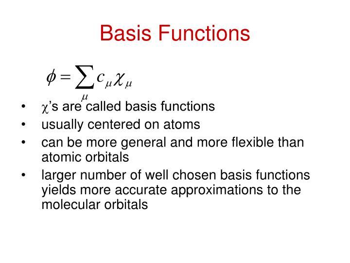 Basis Functions