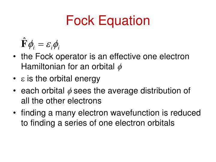 Fock Equation