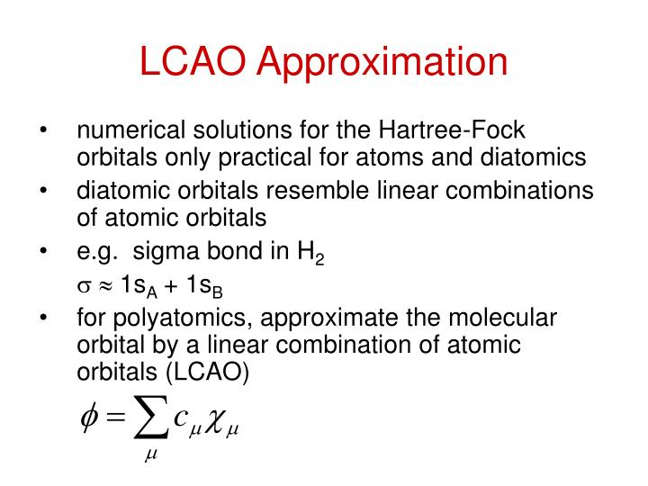 LCAO Approximation