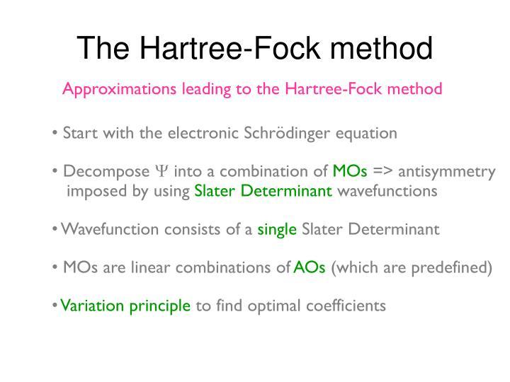 The Hartree-Fock method