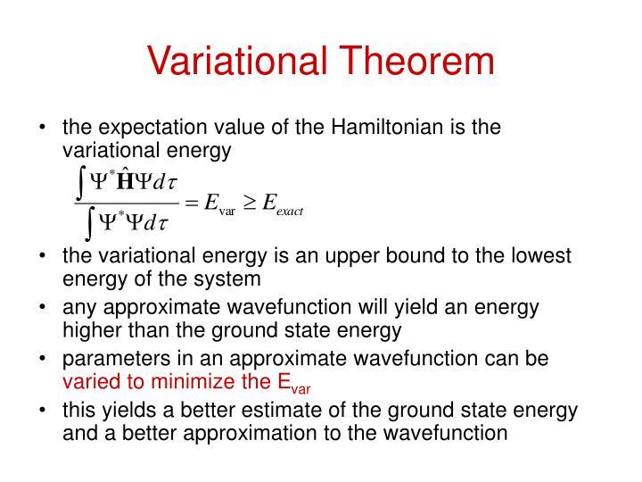 Variational Theorem