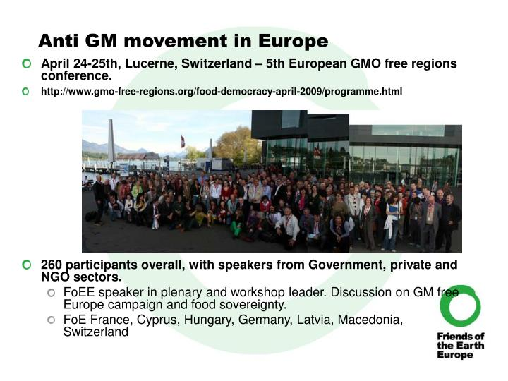 Anti GM movement in Europe