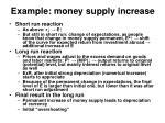 example money supply increase
