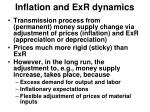 inflation and exr dynamics