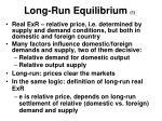 long run equilibrium 1