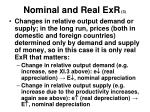 nominal and real exr 3