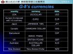 g 8 s currencies