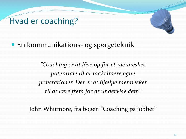 Hvad er coaching?