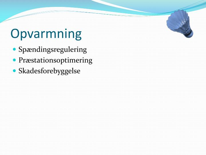 Opvarmning