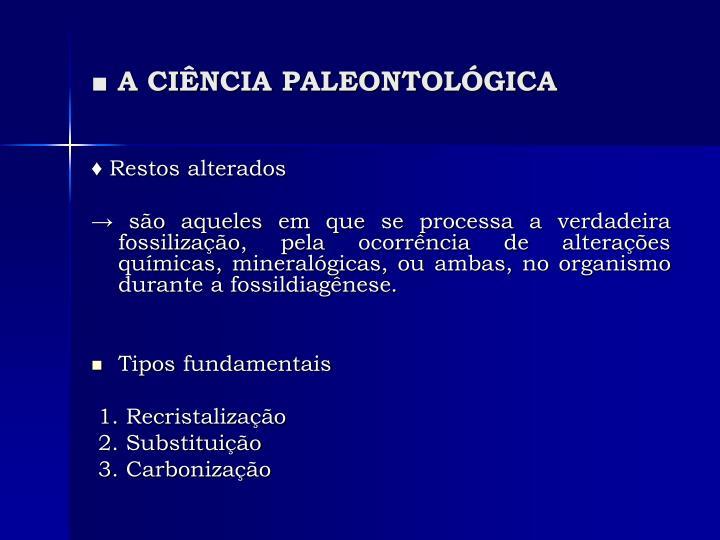A ci ncia paleontol gica1