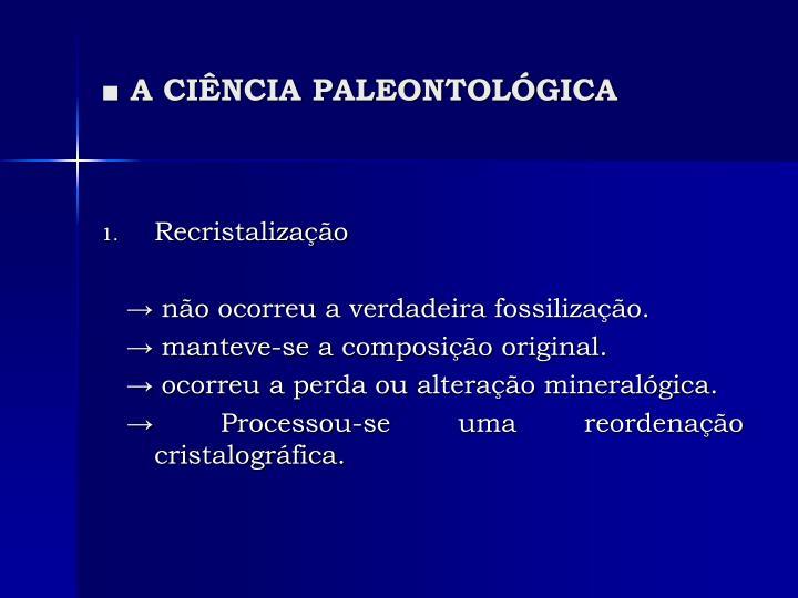 A ci ncia paleontol gica2