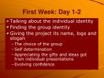 first week day 1 2