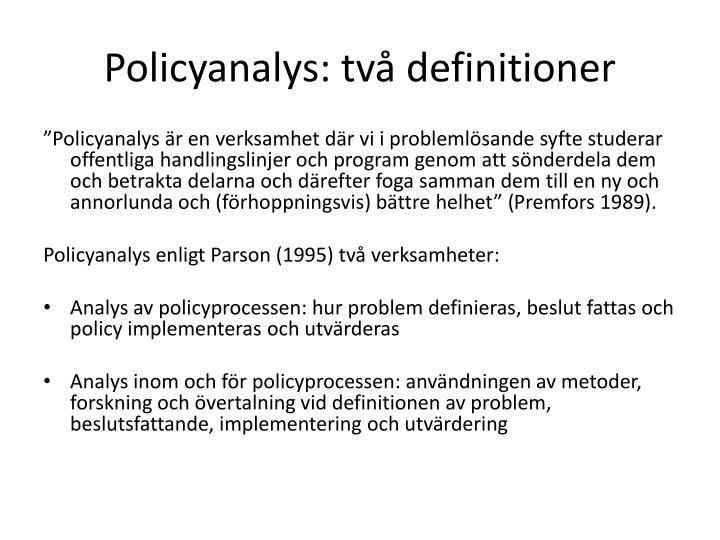Policyanalys