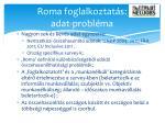 roma foglalkoztat s adat probl ma