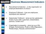 business measurement indicators