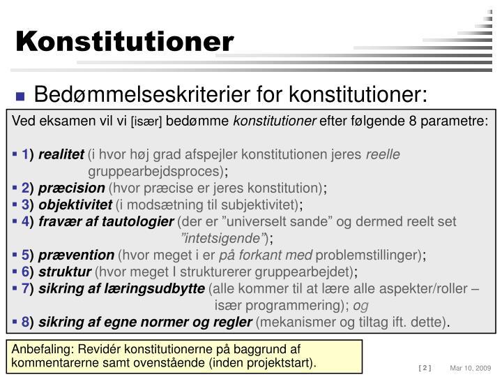 Konstitutioner