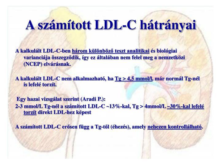 A számított LDL-C hátrányai