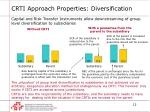 crti approach properties diversification