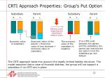 crti approach properties group s put option