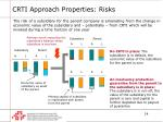 crti approach properties risks