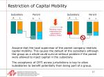 restriction of capital mobility