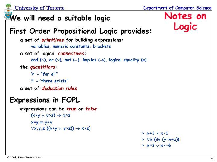 Notes on logic