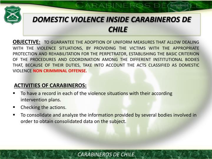 DOMESTIC VIOLENCE INSIDE CARABINEROS DE CHILE