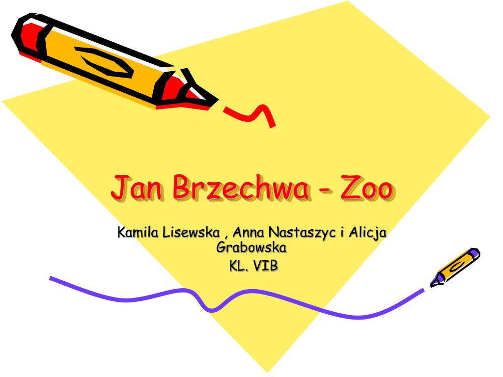 Ppt Jan Brzechwa Zoo Powerpoint Presentation Free