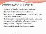 cooperaci n judicial