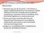la internacionalizaci n del proceso