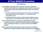 e turb radar evaluation