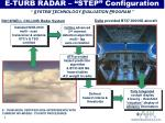 e turb radar step configuration