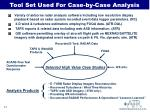 tool set used for case by case analysis