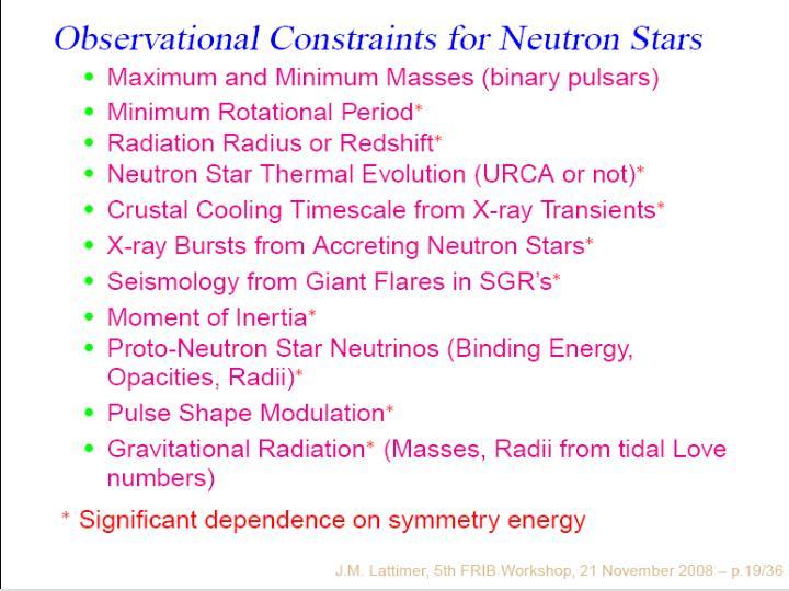 (7) Observational Constraints for Neutron Stars