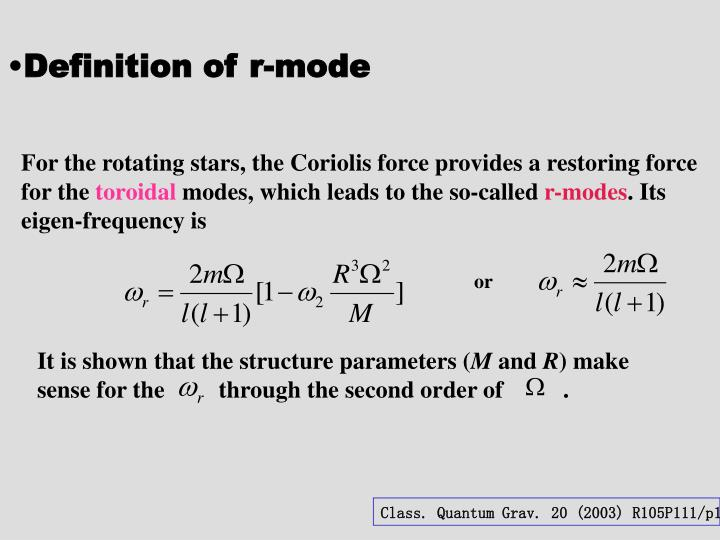 Definition of r-mode